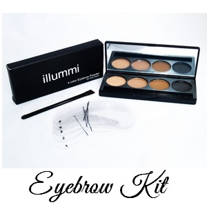 illummi 4 Colour Eyebrow Powder Kit