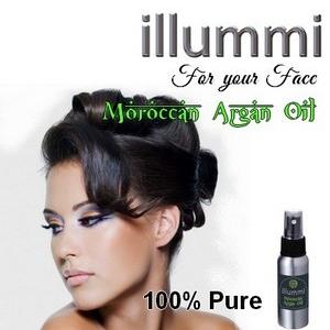 illummi 100% Pure Argan Oil for your face.
