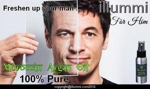 illummi 100% Pure Moroccan Argan Oil for him.